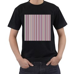 Lines Men s T Shirt (black) (two Sided)