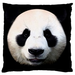 Panda Face Large Cushion Case (one Side)