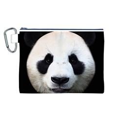 Panda Face Canvas Cosmetic Bag (l)