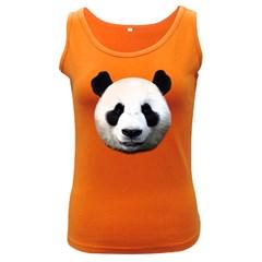 Panda Face Women s Dark Tank Top