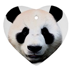 Panda Face Heart Ornament (two Sides)