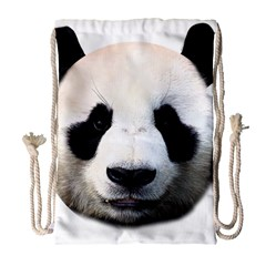 Panda Face Drawstring Bag (large)