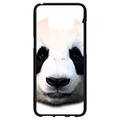 Panda Face Samsung Galaxy S8 Black Seamless Case