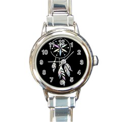 Dreamcatcher  Round Italian Charm Watch