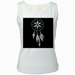 Dreamcatcher  Women s White Tank Top