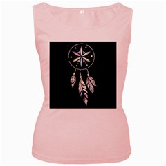 Dreamcatcher  Women s Pink Tank Top