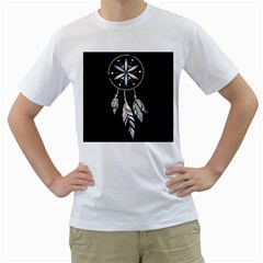 Dreamcatcher  Men s T Shirt (white) (two Sided)