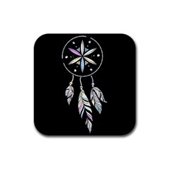 Dreamcatcher  Rubber Square Coaster (4 Pack)