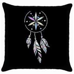Dreamcatcher  Throw Pillow Case (black)