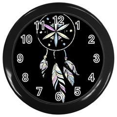 Dreamcatcher  Wall Clocks (black)