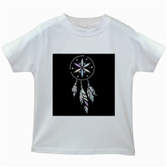 Dreamcatcher  Kids White T Shirts
