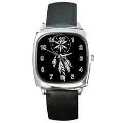 Dreamcatcher  Square Metal Watch