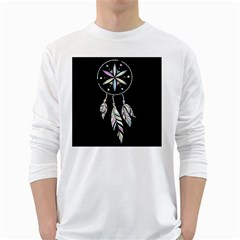 Dreamcatcher  White Long Sleeve T Shirts