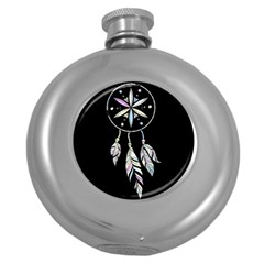 Dreamcatcher  Round Hip Flask (5 Oz)