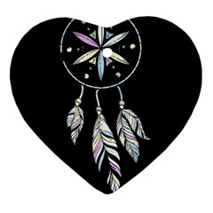 Dreamcatcher  Heart Ornament (two Sides)