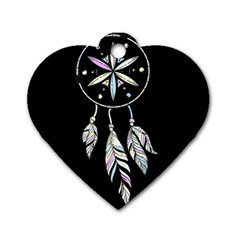 Dreamcatcher  Dog Tag Heart (one Side)