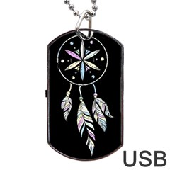Dreamcatcher  Dog Tag Usb Flash (two Sides)