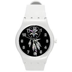 Dreamcatcher  Round Plastic Sport Watch (m)