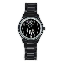 Dreamcatcher  Stainless Steel Round Watch