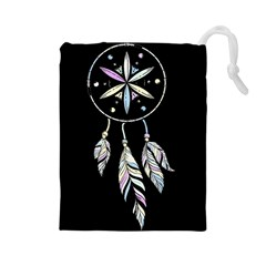 Dreamcatcher  Drawstring Pouches (large)