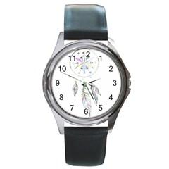 Dreamcatcher  Round Metal Watch