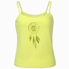 Dreamcatcher  Yellow Spaghetti Tank