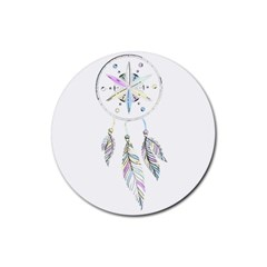 Dreamcatcher  Rubber Coaster (round)