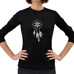 Dreamcatcher  Women s Long Sleeve Dark T Shirts