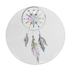 Dreamcatcher  Round Ornament (two Sides)