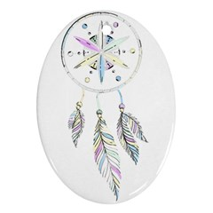 Dreamcatcher  Oval Ornament (two Sides)
