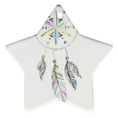 Dreamcatcher  Star Ornament (two Sides)