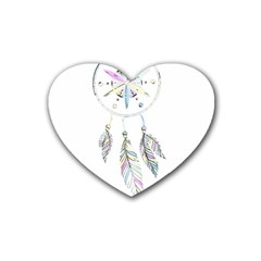 Dreamcatcher  Heart Coaster (4 Pack)