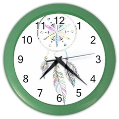 Dreamcatcher  Color Wall Clocks