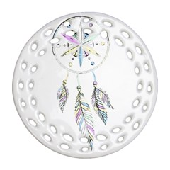 Dreamcatcher  Round Filigree Ornament (two Sides)