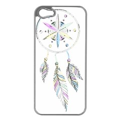 Dreamcatcher  Apple Iphone 5 Case (silver)