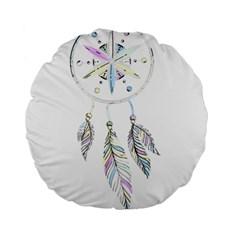 Dreamcatcher  Standard 15  Premium Round Cushions