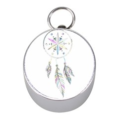 Dreamcatcher  Mini Silver Compasses
