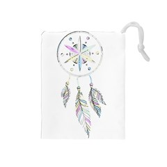 Dreamcatcher  Drawstring Pouches (medium)