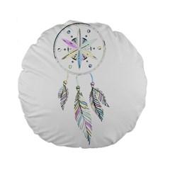 Dreamcatcher  Standard 15  Premium Flano Round Cushions