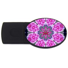 Fantasy Cherry Flower Mandala Pop Art Usb Flash Drive Oval (4 Gb)