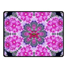 Fantasy Cherry Flower Mandala Pop Art Fleece Blanket (small)