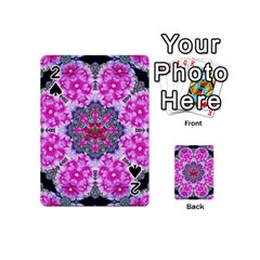 Fantasy Cherry Flower Mandala Pop Art Playing Cards 54 (mini)