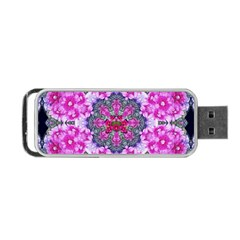 Fantasy Cherry Flower Mandala Pop Art Portable Usb Flash (one Side)