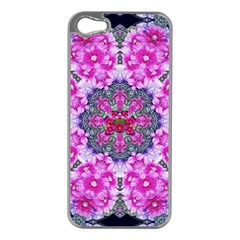 Fantasy Cherry Flower Mandala Pop Art Apple Iphone 5 Case (silver)