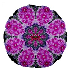 Fantasy Cherry Flower Mandala Pop Art Large 18  Premium Round Cushions