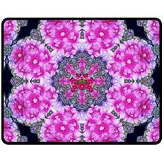 Fantasy Cherry Flower Mandala Pop Art Double Sided Fleece Blanket (medium)