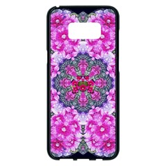 Fantasy Cherry Flower Mandala Pop Art Samsung Galaxy S8 Plus Black Seamless Case
