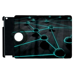 3d Balls Rendering Lines  Apple Ipad 3/4 Flip 360 Case