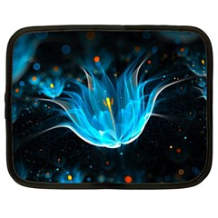 Abstraction Light Neon Glitter  Netbook Case (large)