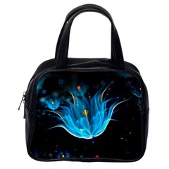 Abstraction Light Neon Glitter  Classic Handbags (one Side)